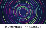 colorful neon circles... | Shutterstock .eps vector #447225634