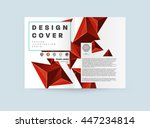 geometric cover background ... | Shutterstock .eps vector #447234814