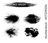 vector set of grunge brush... | Shutterstock .eps vector #447239056
