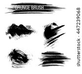 vector set of grunge brush... | Shutterstock .eps vector #447239068