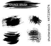 vector set of grunge brush... | Shutterstock .eps vector #447239074