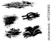 vector set of grunge brush... | Shutterstock .eps vector #447239083