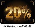 gold 20 percent. vector image. | Shutterstock .eps vector #447242398
