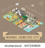 set of isolated isometric... | Shutterstock .eps vector #447244834