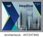 blue arrow brochure layout... | Shutterstock .eps vector #447247300