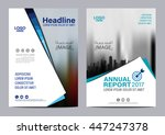 blue brochure layout magazine... | Shutterstock .eps vector #447247378