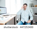 happy young handsome... | Shutterstock . vector #447252400