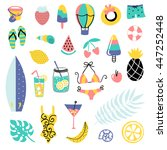 summer vector elements... | Shutterstock .eps vector #447252448