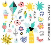 summer vector elements... | Shutterstock .eps vector #447252469