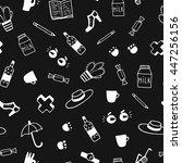 vector doodle background.... | Shutterstock .eps vector #447256156