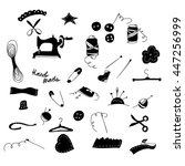 vector  black sewing icons. ... | Shutterstock .eps vector #447256999