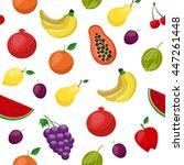 fruit pattern. modern flat... | Shutterstock .eps vector #447261448