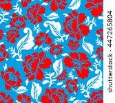 russian national flower pattern.... | Shutterstock .eps vector #447265804