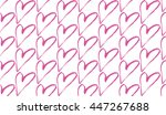 abstract seamless heart pattern. | Shutterstock .eps vector #447267688