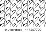 abstract seamless heart pattern. | Shutterstock .eps vector #447267700