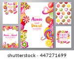 5 bright save the date... | Shutterstock .eps vector #447271699