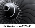 turbine blades of turbo jet... | Shutterstock . vector #447271849