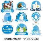 fresh natural milk graphics... | Shutterstock .eps vector #447272230