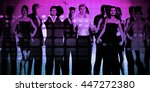 business people success... | Shutterstock . vector #447272380