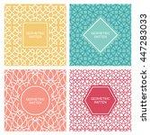 set of vintage mono line...   Shutterstock .eps vector #447283033