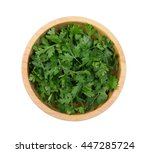 Top View Of Fresh Coriander...