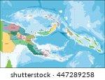 papua new guinea map | Shutterstock .eps vector #447289258