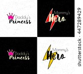 t shirt lettering for little... | Shutterstock .eps vector #447289429