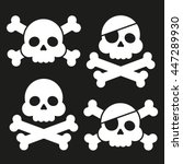 skull and crossbones flat icon. ... | Shutterstock .eps vector #447289930