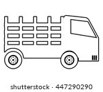 truck vehicle in black and... | Shutterstock .eps vector #447290290