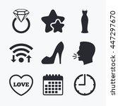 wedding slim dress icon. women...   Shutterstock .eps vector #447297670