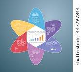 template for presentation ... | Shutterstock .eps vector #447297844