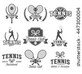 set of tennis badge logotype... | Shutterstock .eps vector #447300004