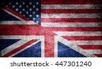 united kingdom and usa dark...   Shutterstock . vector #447301240
