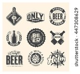 collection of beer labels... | Shutterstock .eps vector #447308629