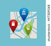 gps service design  vector... | Shutterstock .eps vector #447309268