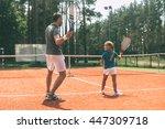 training together. full length... | Shutterstock . vector #447309718