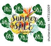 template for summer sale...   Shutterstock .eps vector #447310009