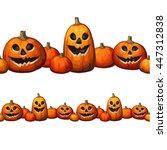 halloween pumpkin.horizontal...   Shutterstock .eps vector #447312838