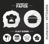 crumpled paper speech bubble.... | Shutterstock .eps vector #447316006