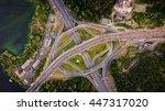 aerial view of highway... | Shutterstock . vector #447317020