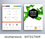 geometric cover background ... | Shutterstock .eps vector #447317449