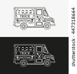 food truck. vector illustration | Shutterstock .eps vector #447318664