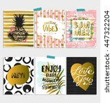 creative scandinavian set of... | Shutterstock .eps vector #447322204