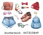 fashion watercolor set of... | Shutterstock . vector #447325849