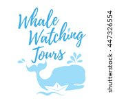 whale watching tours logo in... | Shutterstock .eps vector #447326554