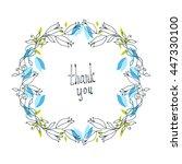 flower doodle frame. line... | Shutterstock .eps vector #447330100