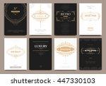 monogram creative cards...   Shutterstock .eps vector #447330103