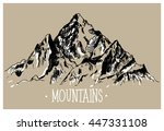 the mountains. vector drawing... | Shutterstock .eps vector #447331108