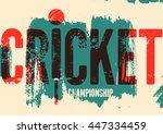 cricket typographical vintage... | Shutterstock .eps vector #447334459