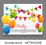 party background baner with... | Shutterstock .eps vector #447341038